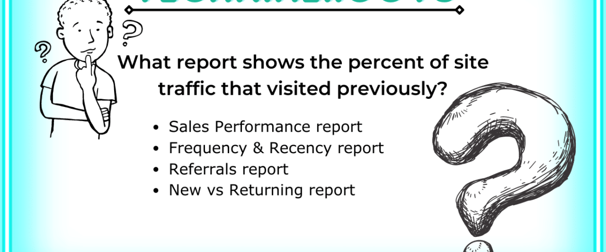 What report shows the percent of site traffic that visited previously?