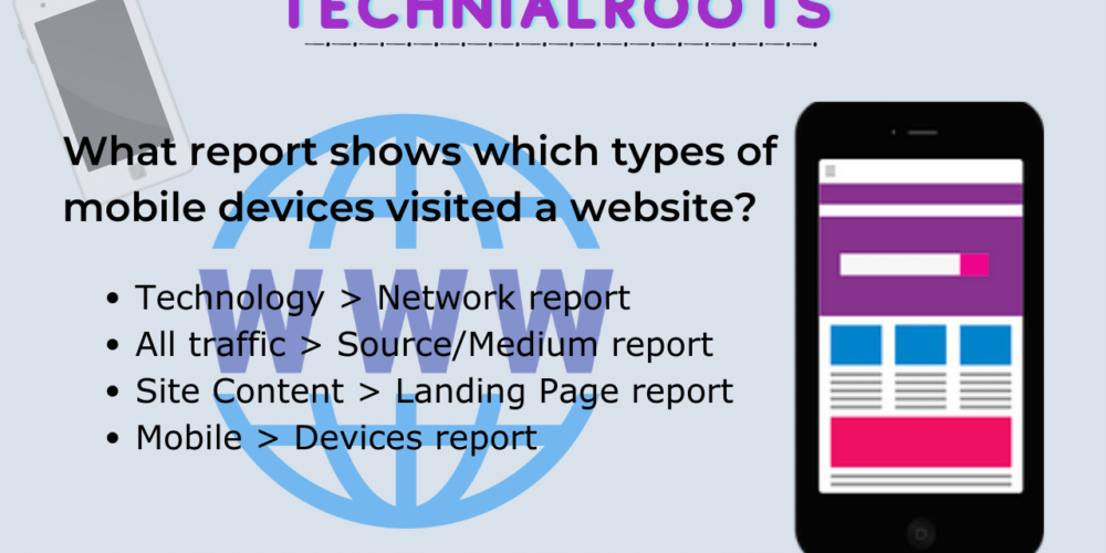 what report shows which types of mobile devices visited a website?