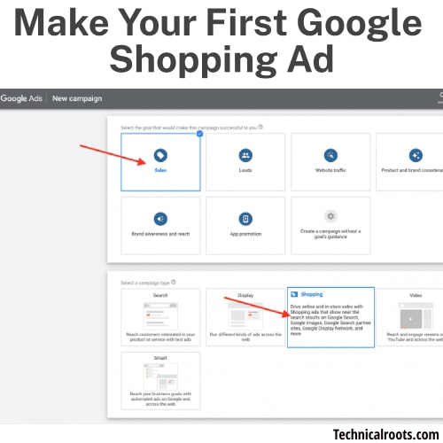 Make Your First Google Shopping Ad